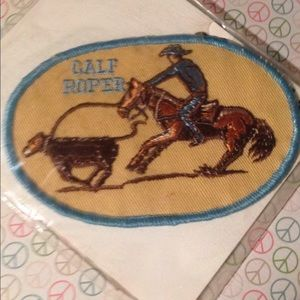 Vintage Old Stock Calf Roping Patch